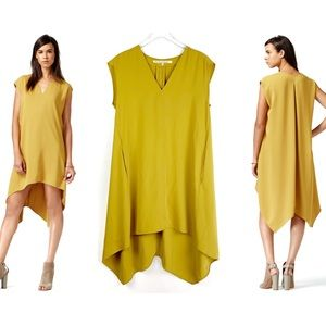 {RACHEL ROY} Sydney Mustard Yellow High Low Dress